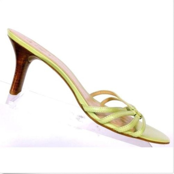 568a7ef021f Ann Taylor Loft Womens Green Strappy Sandals 8.5 M